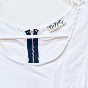 Necessary Clothing Tops - Peplum Zip Back Sleeveless Top S